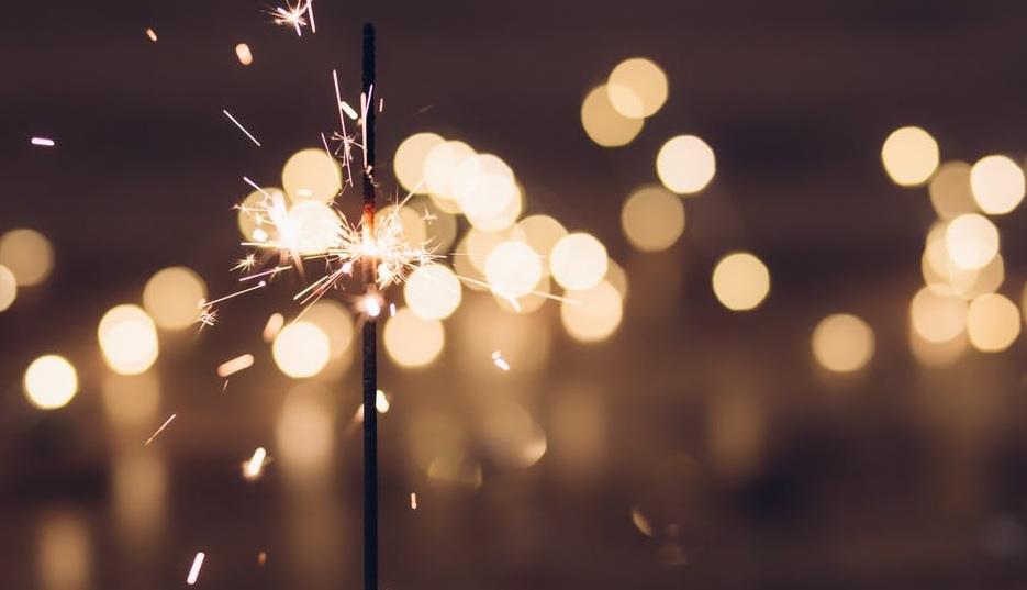sampanské, prskavky, nový rok